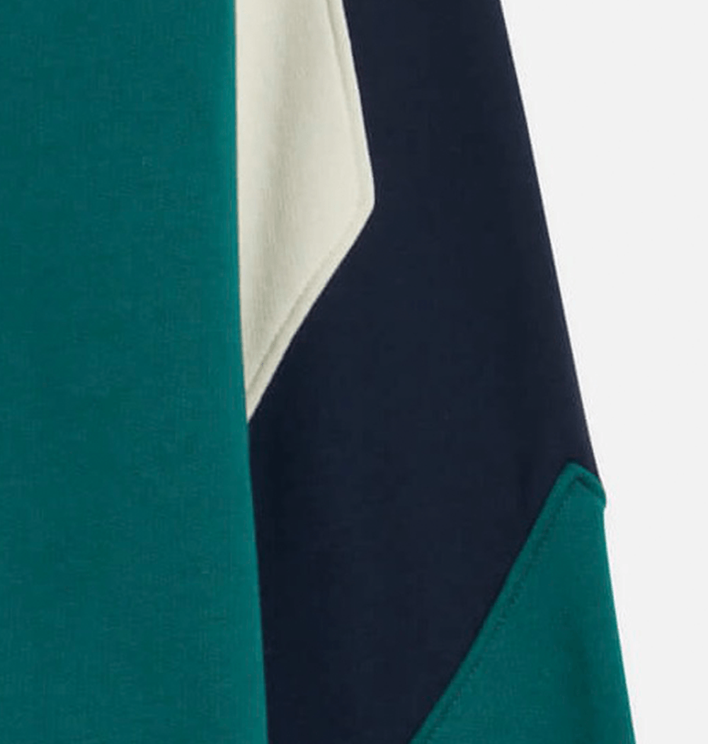 Cream / Teal Parvis Panel Sweatshirt