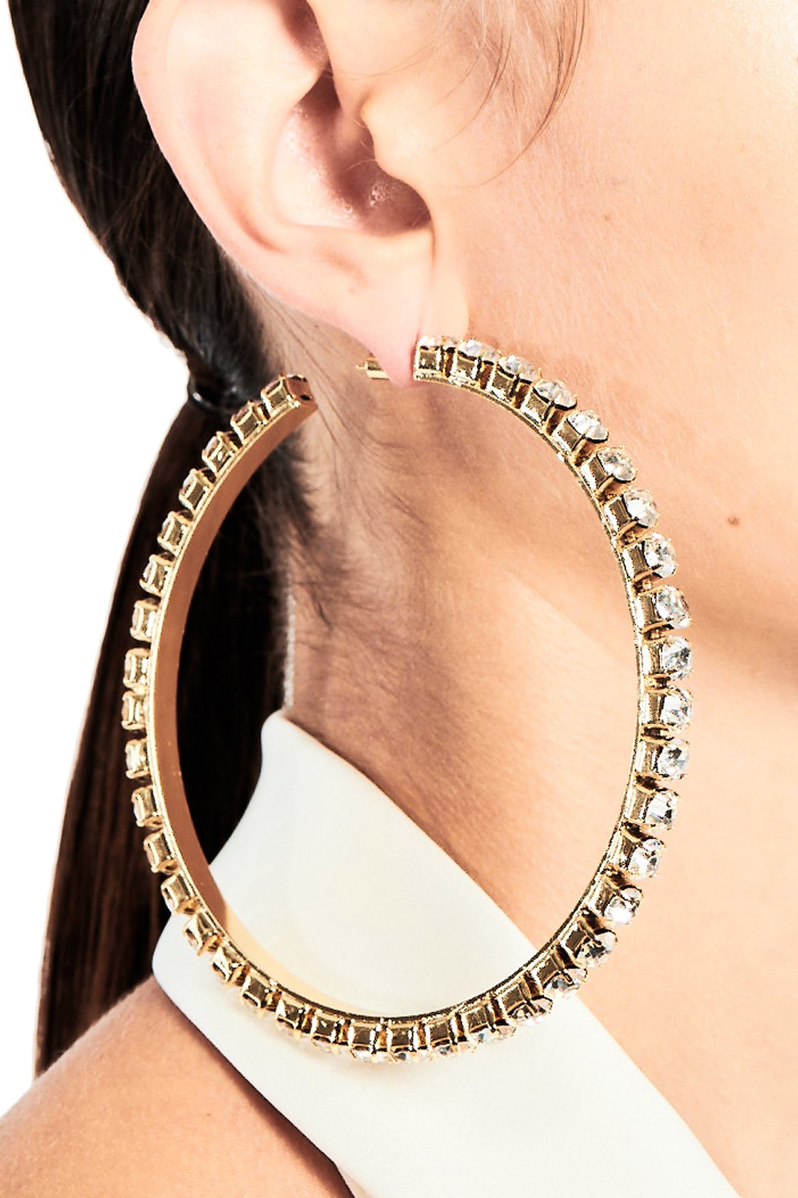 Large Classic Round Hoops 4""