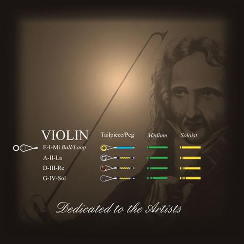 Larsen Il Cannone Violin String Set in action