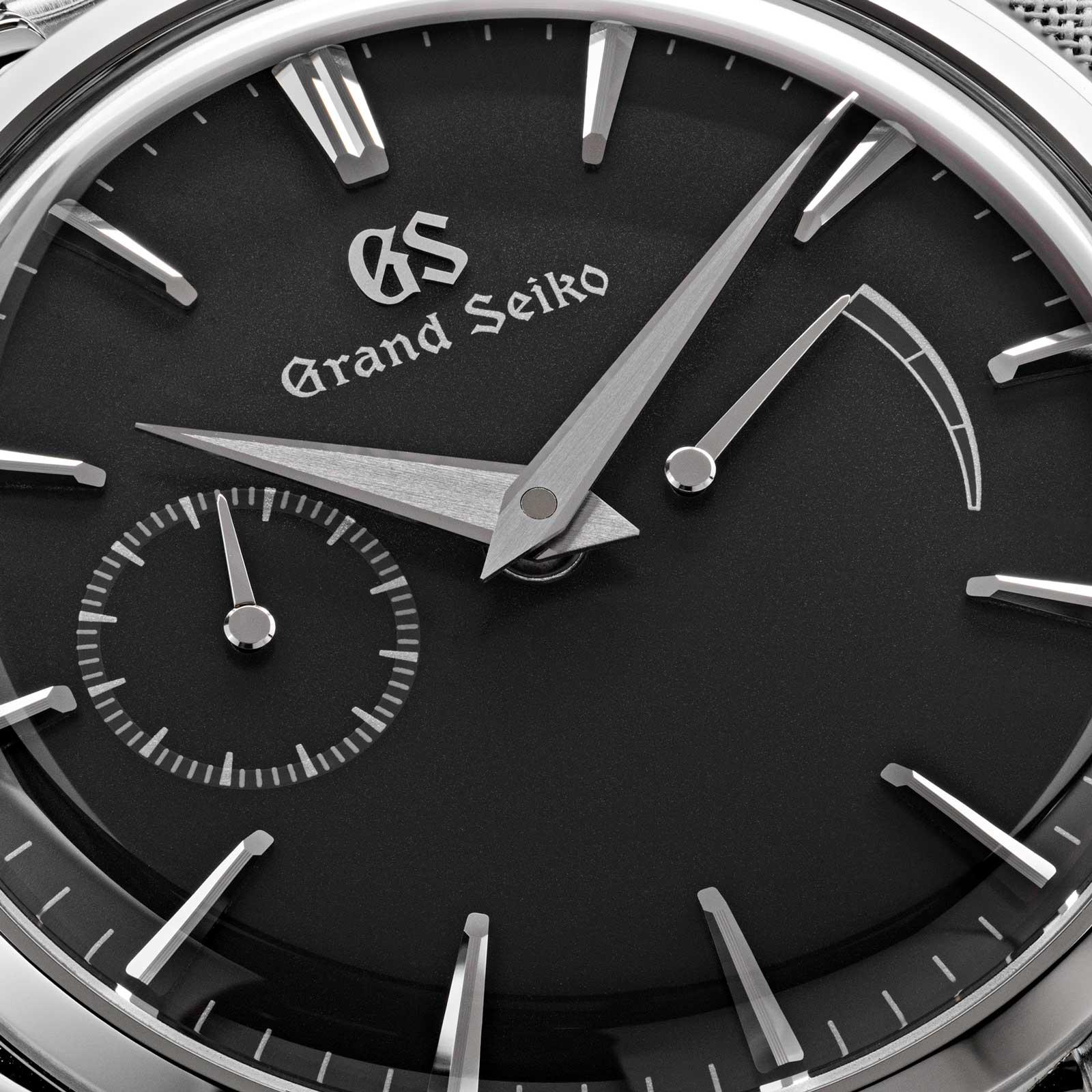 Grand Seiko SBGK009 grey dial power reserve luxury men's dress watch.