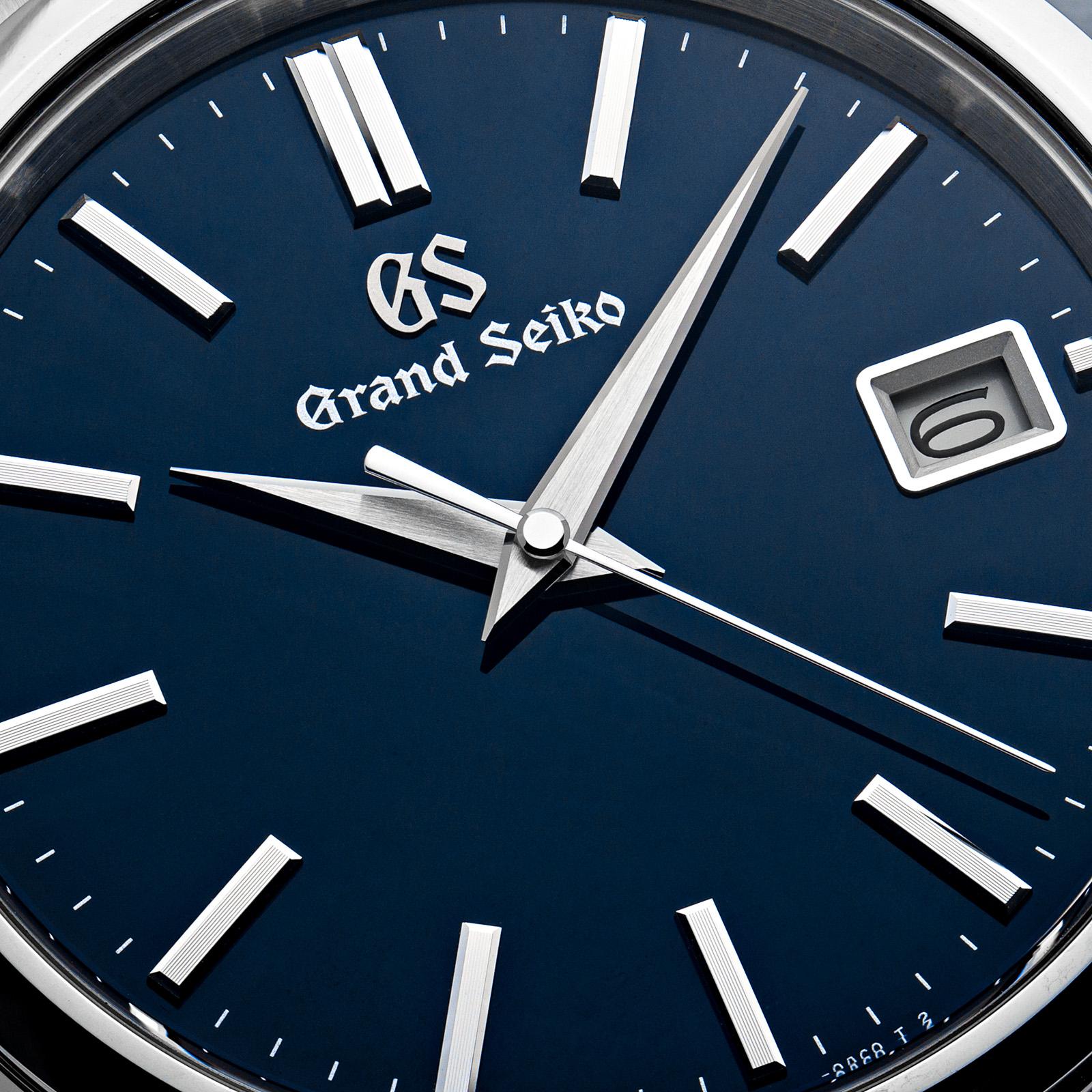 SBGP005 - Macro of blue dial details.