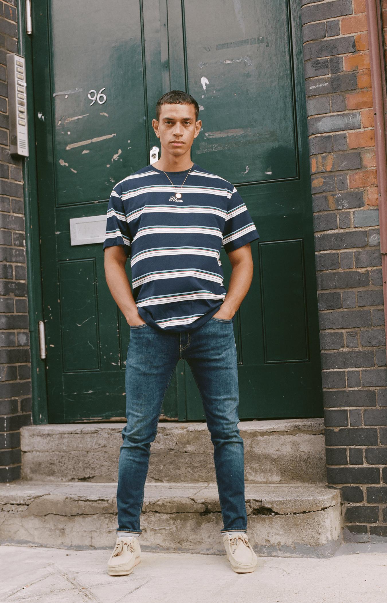 Navy Blue Benita Stripe T-Shirt