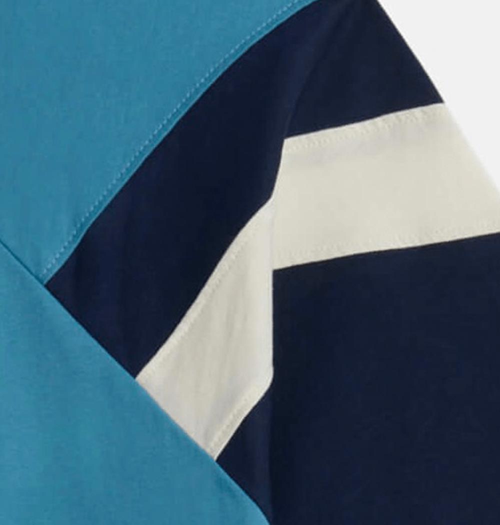 Teal Blue Naoki Stripe T-Shirt