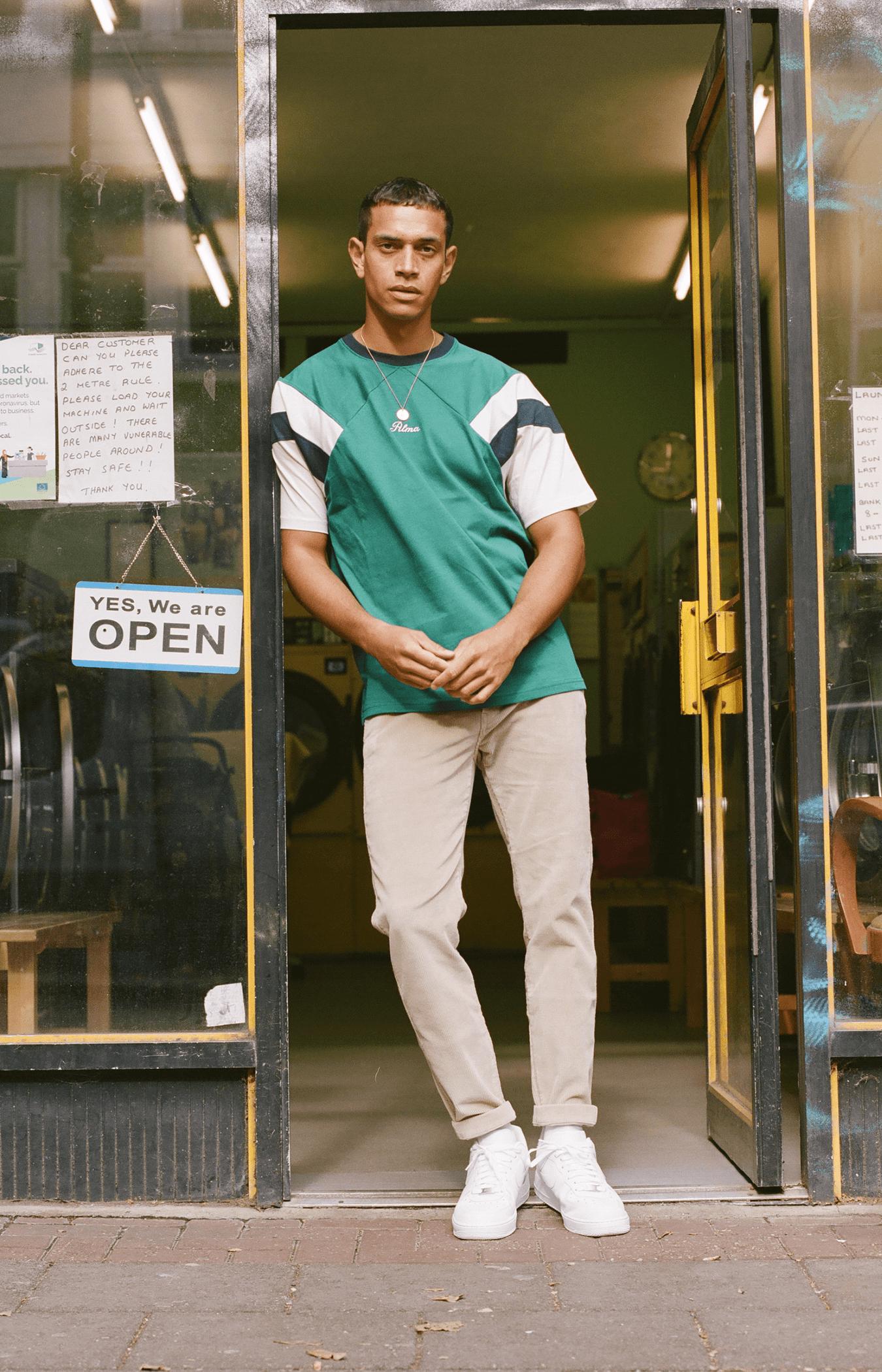Green Naoki Stripe T-Shirt