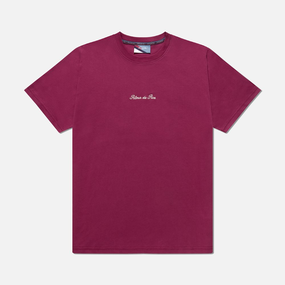 Rose Red Embroidered T-Shirt