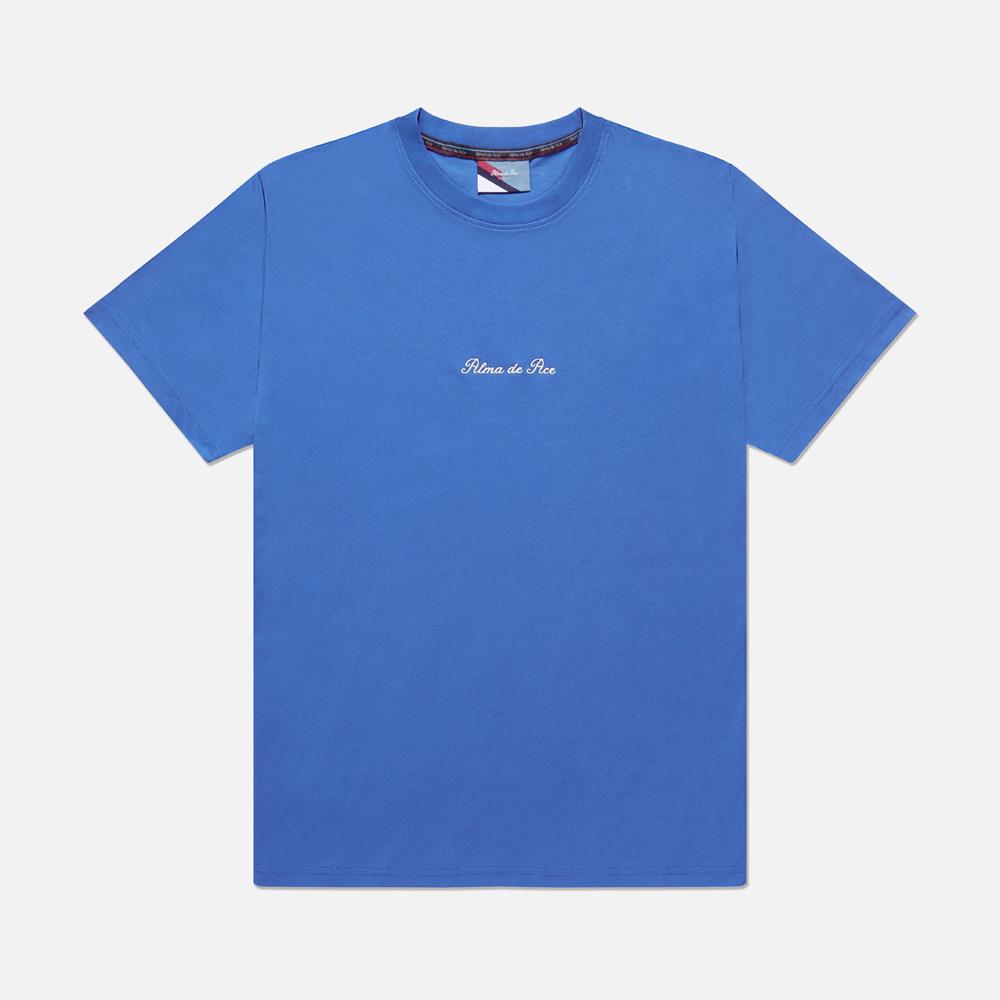 Blue Cobalt Embroidered T-Shirt