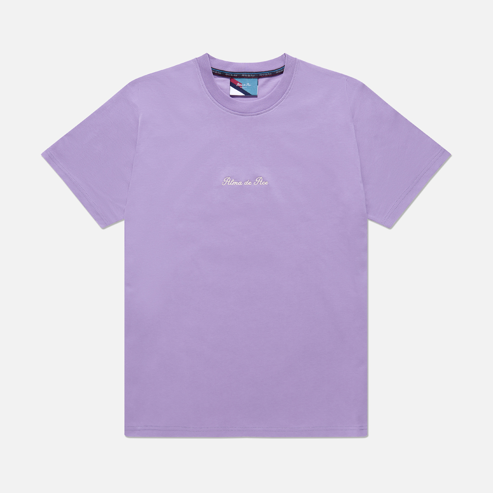 Chalk Violet Embroidered T-Shirt
