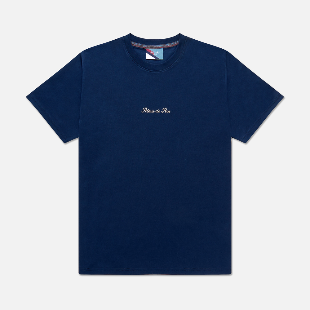 Midnight Blue Embroidered T-Shirt