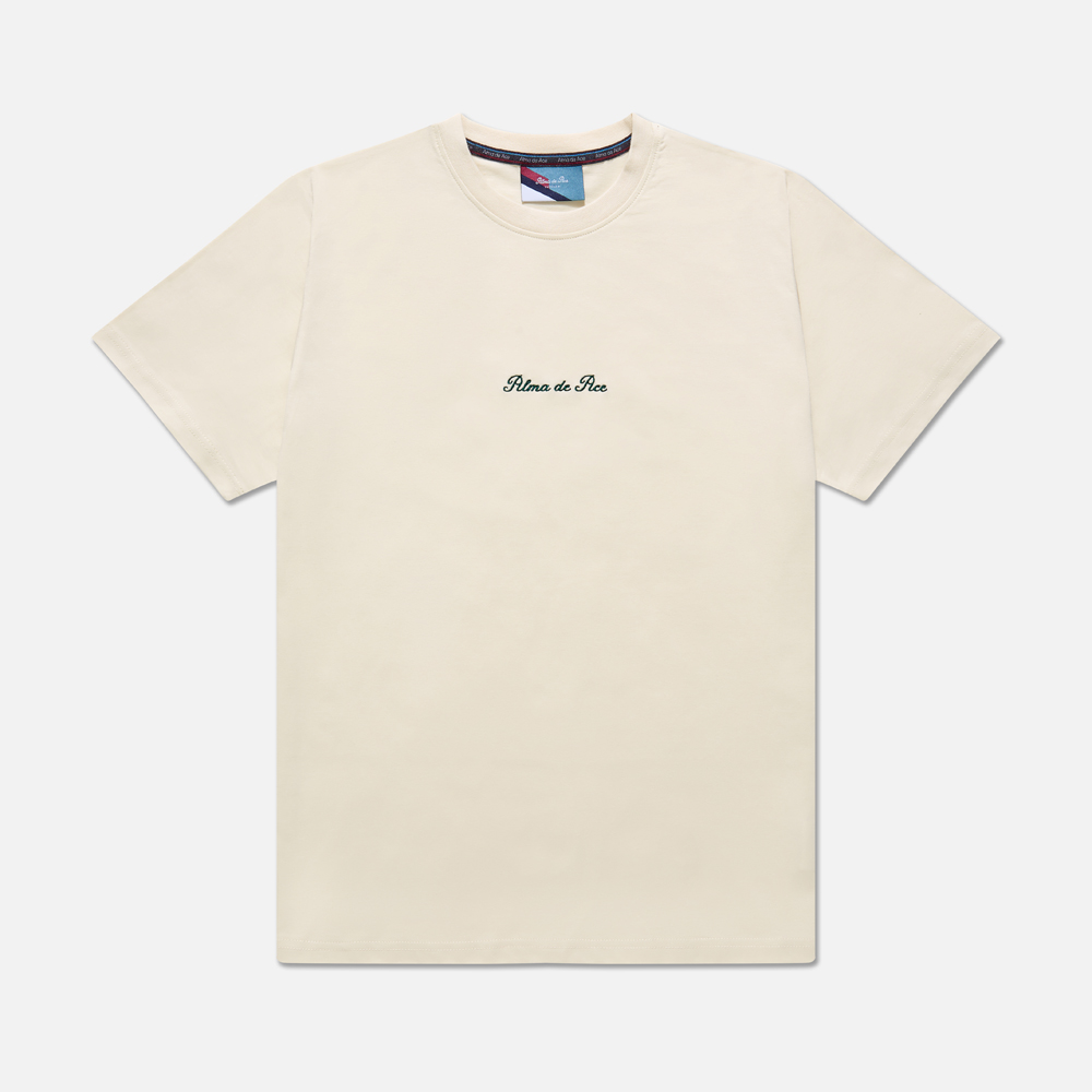 Cream White Embroidered T-Shirt