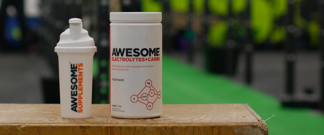 Awesome Electrolytes+Carbs hero banner