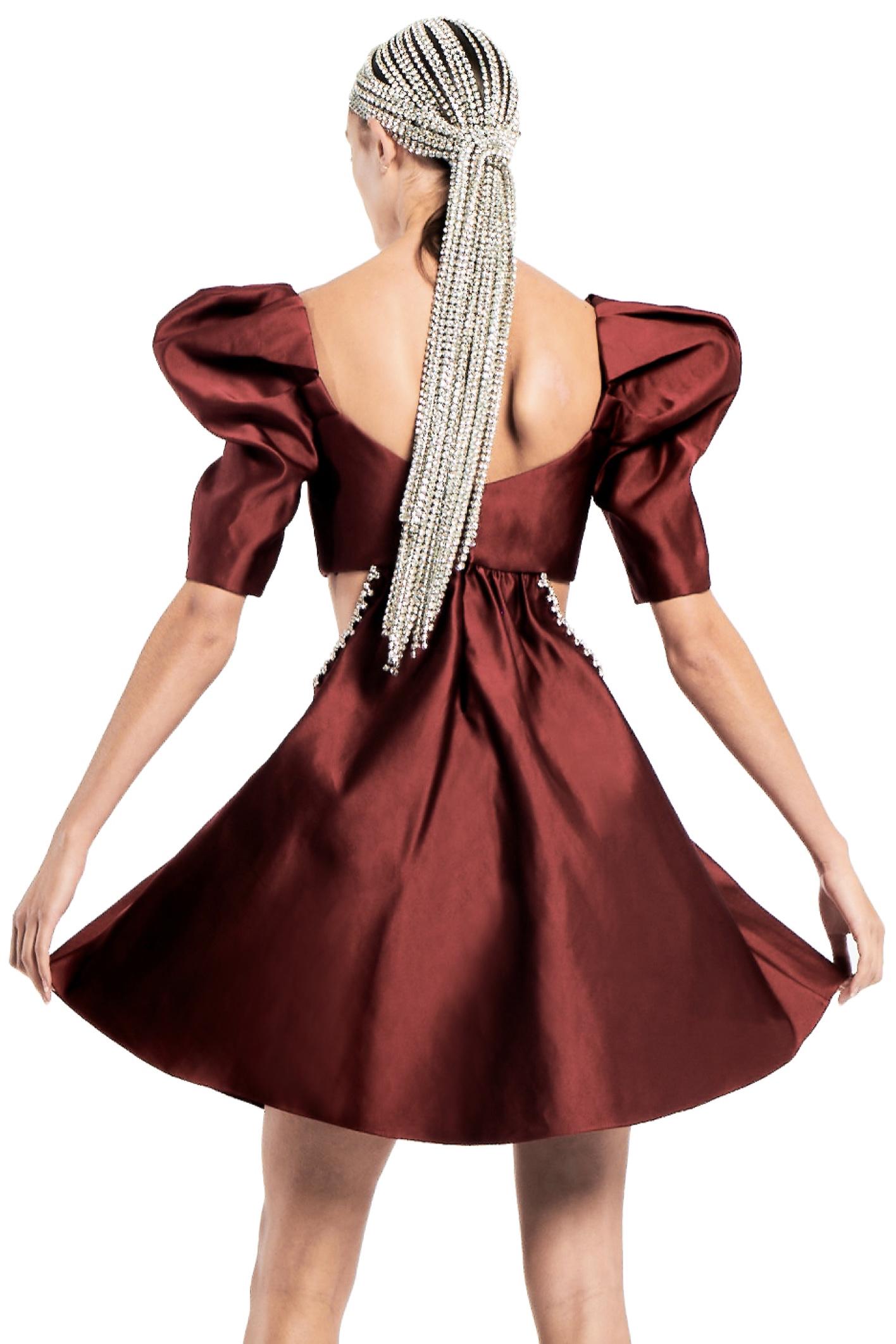 Sculpted Sleeve Cutout Dress