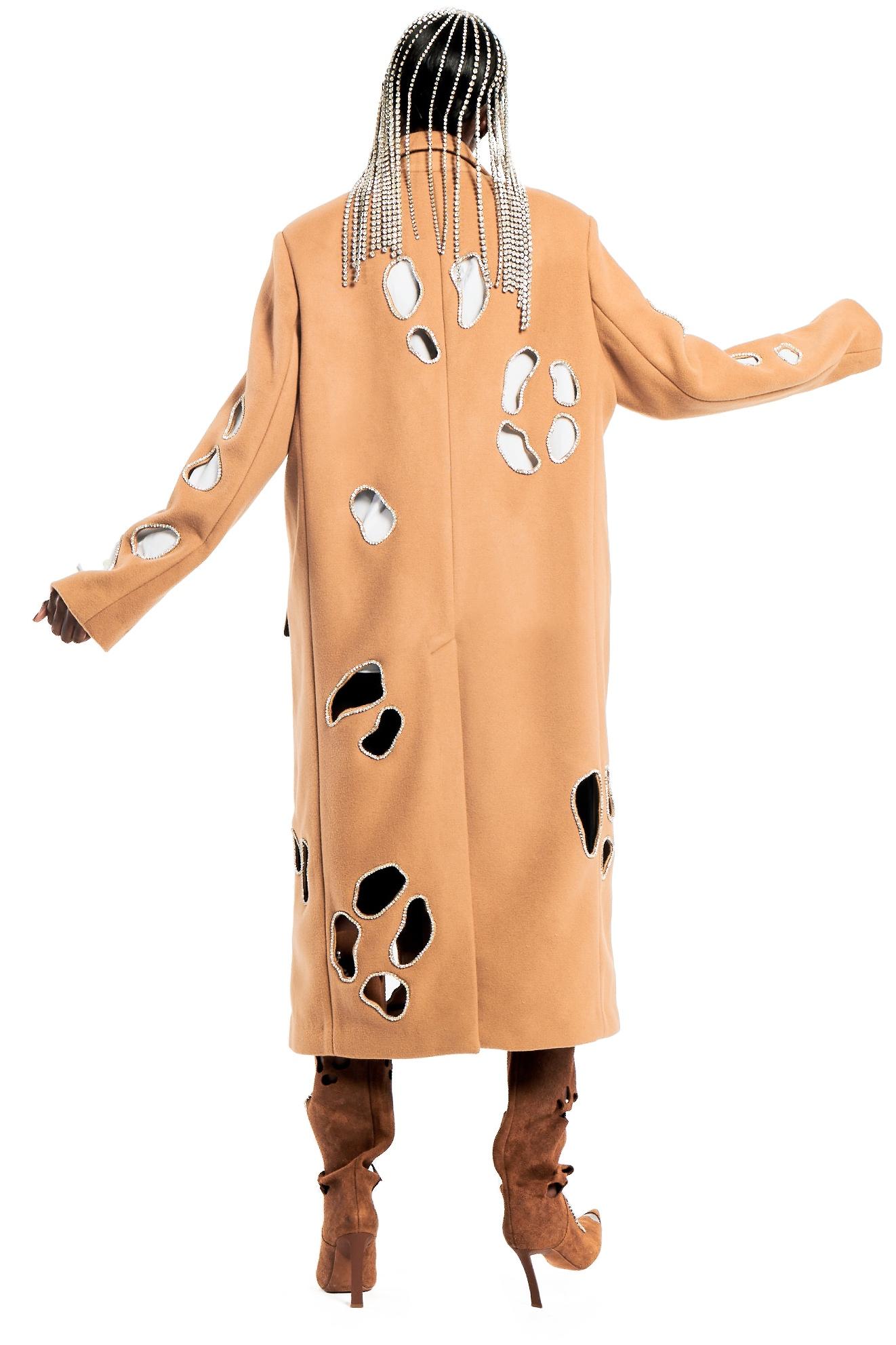 Leopard Cutout Coat