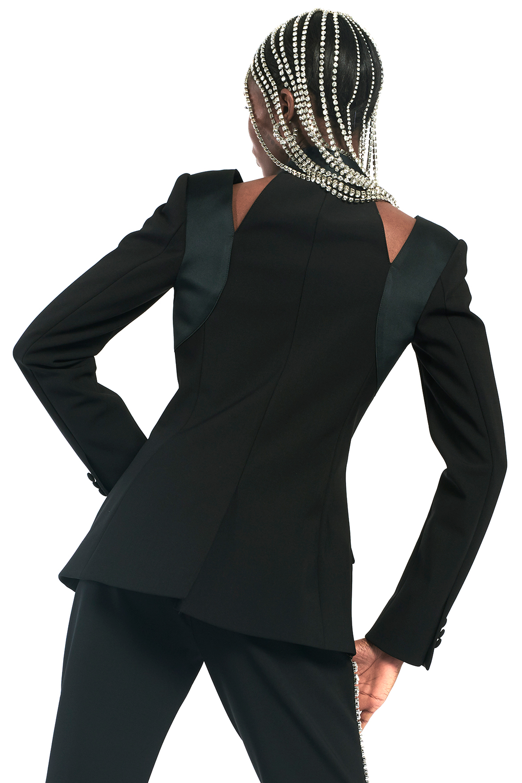 Braided Patchwork Tailored Blazer