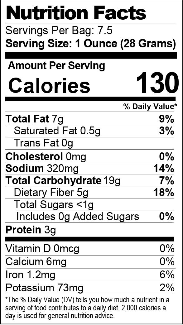 Dill Pickle Seasoned Popcorn nutrition facts