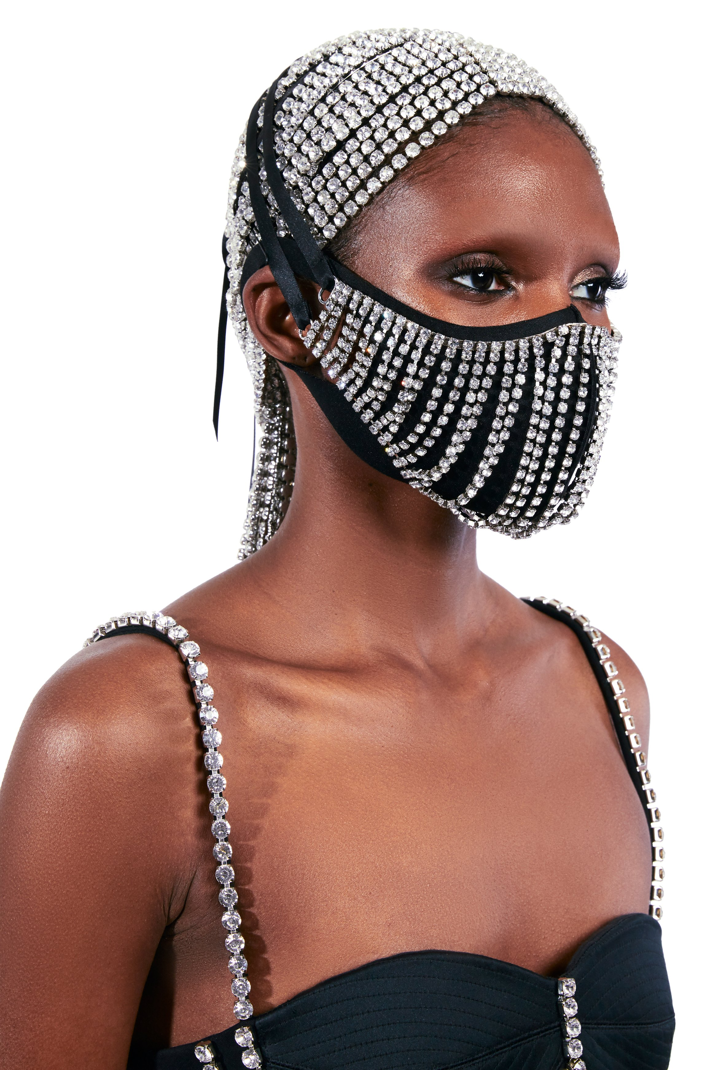 Crystal Fringe Mask Accessory
