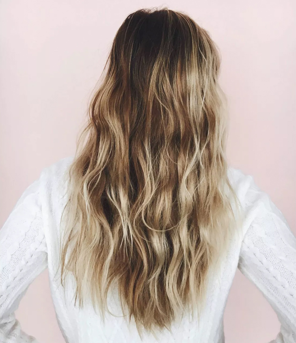 Kristin Ess Hair Extra Gentle Shampoo Lifestyle Image with Long Hair