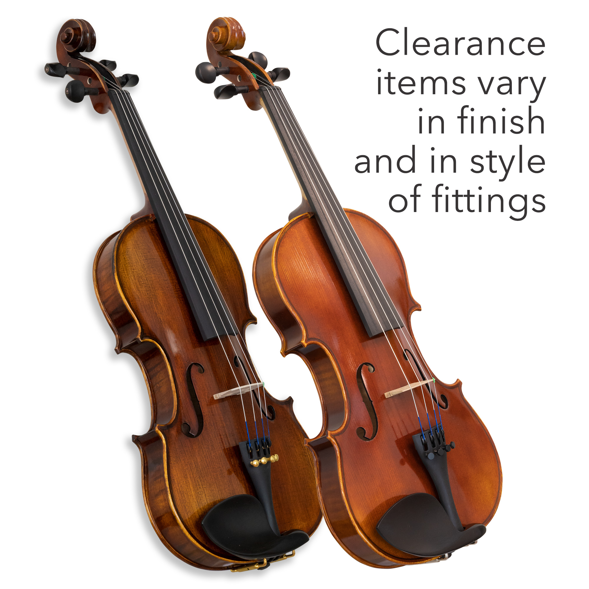 CLEARANCE 4/4 Louis Carpini G2 Violin Outfit in action