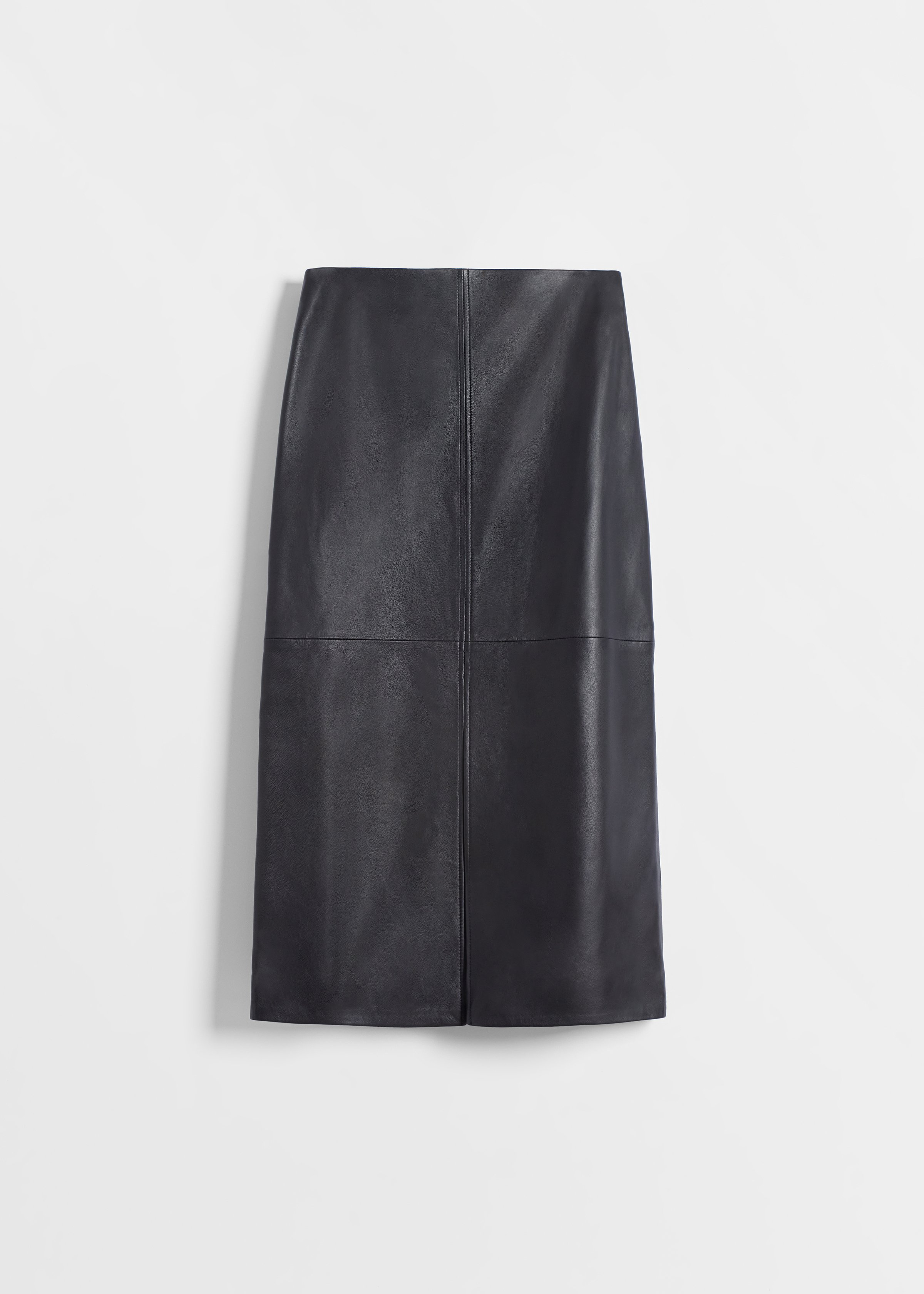 CO - Pencil Skirt in Leather - Black
