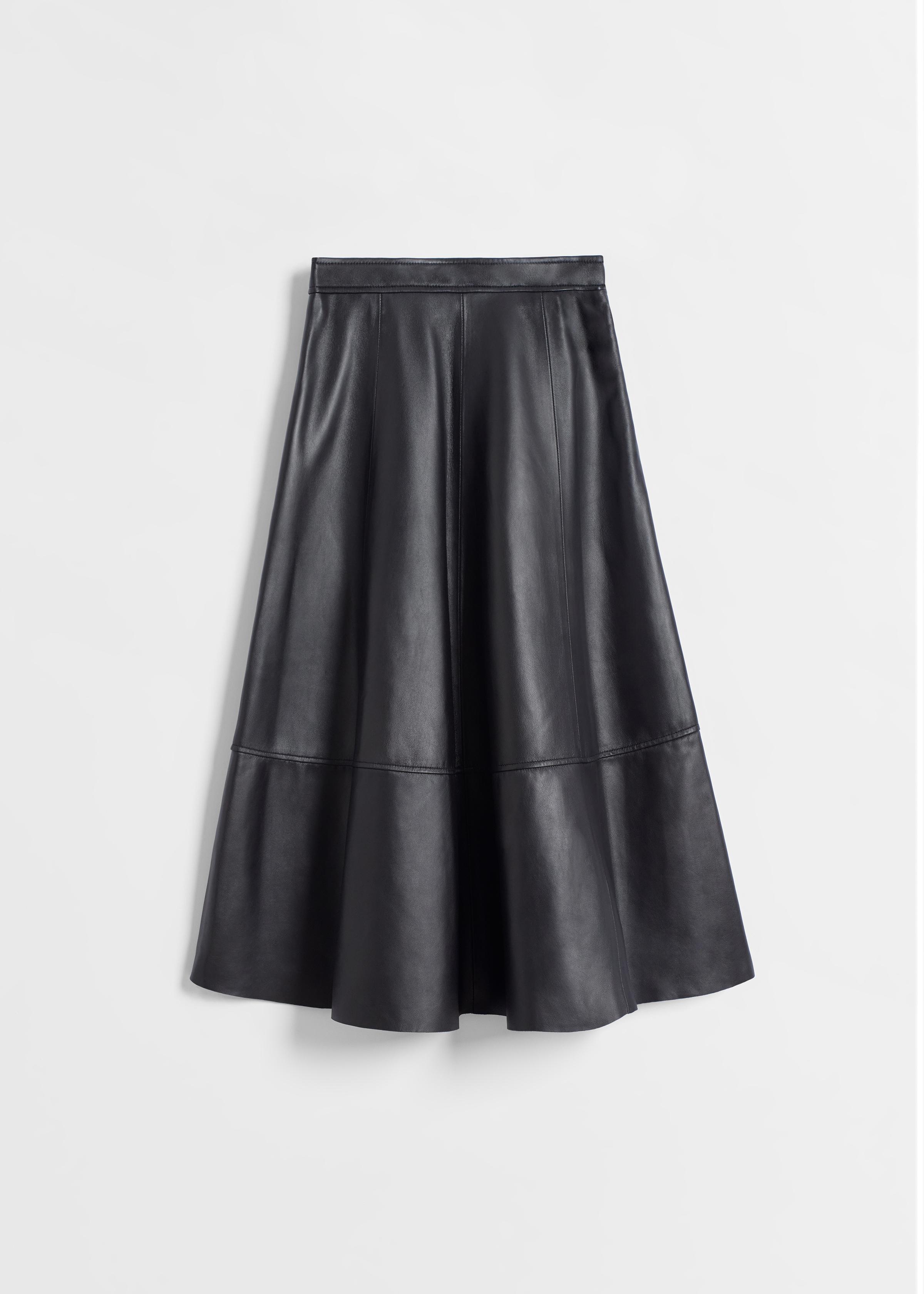 Full Skirt in Leather - Black - CO