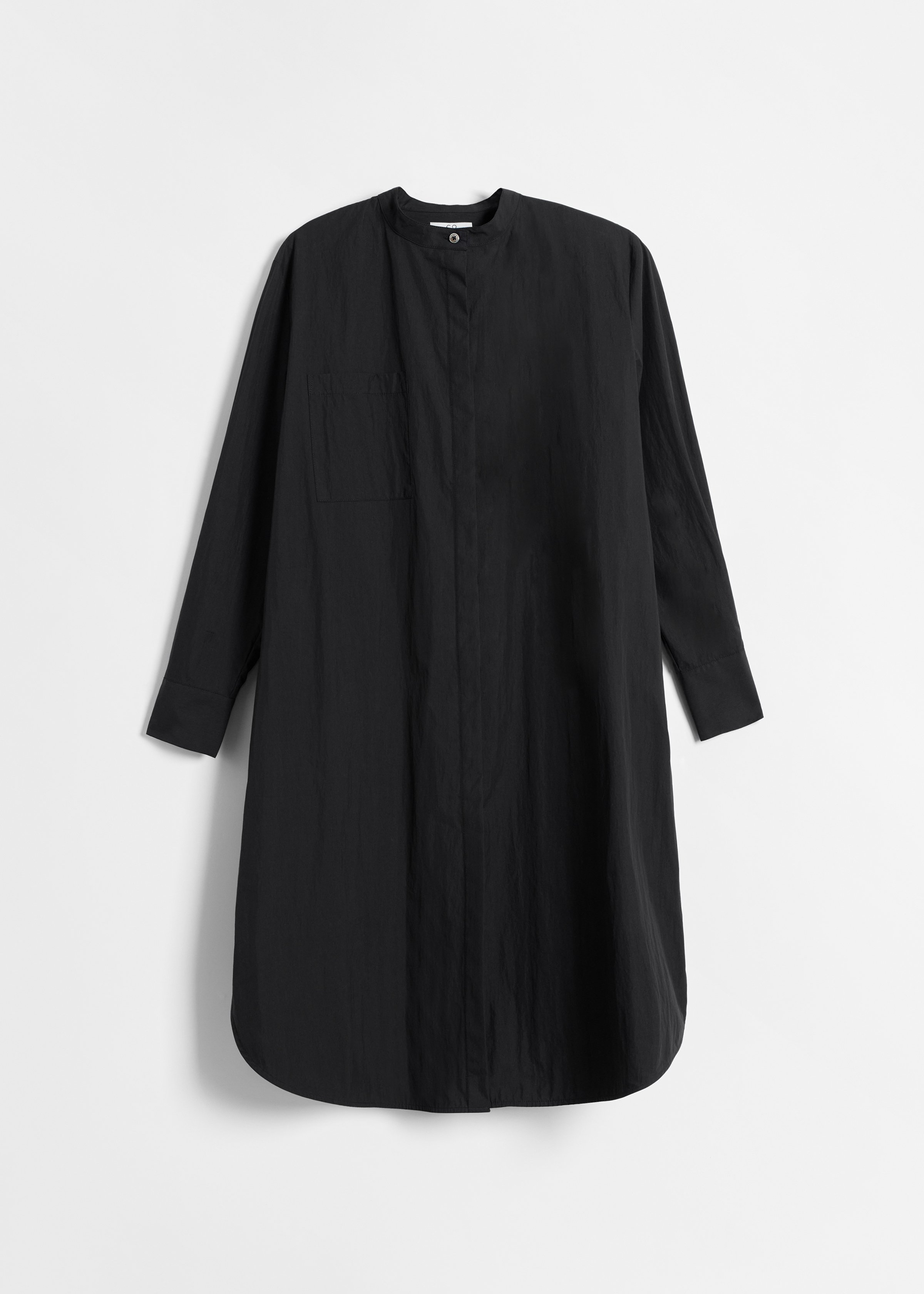 Belted Long Sleeve Tunic - Black - by Zoe Gherter for Co