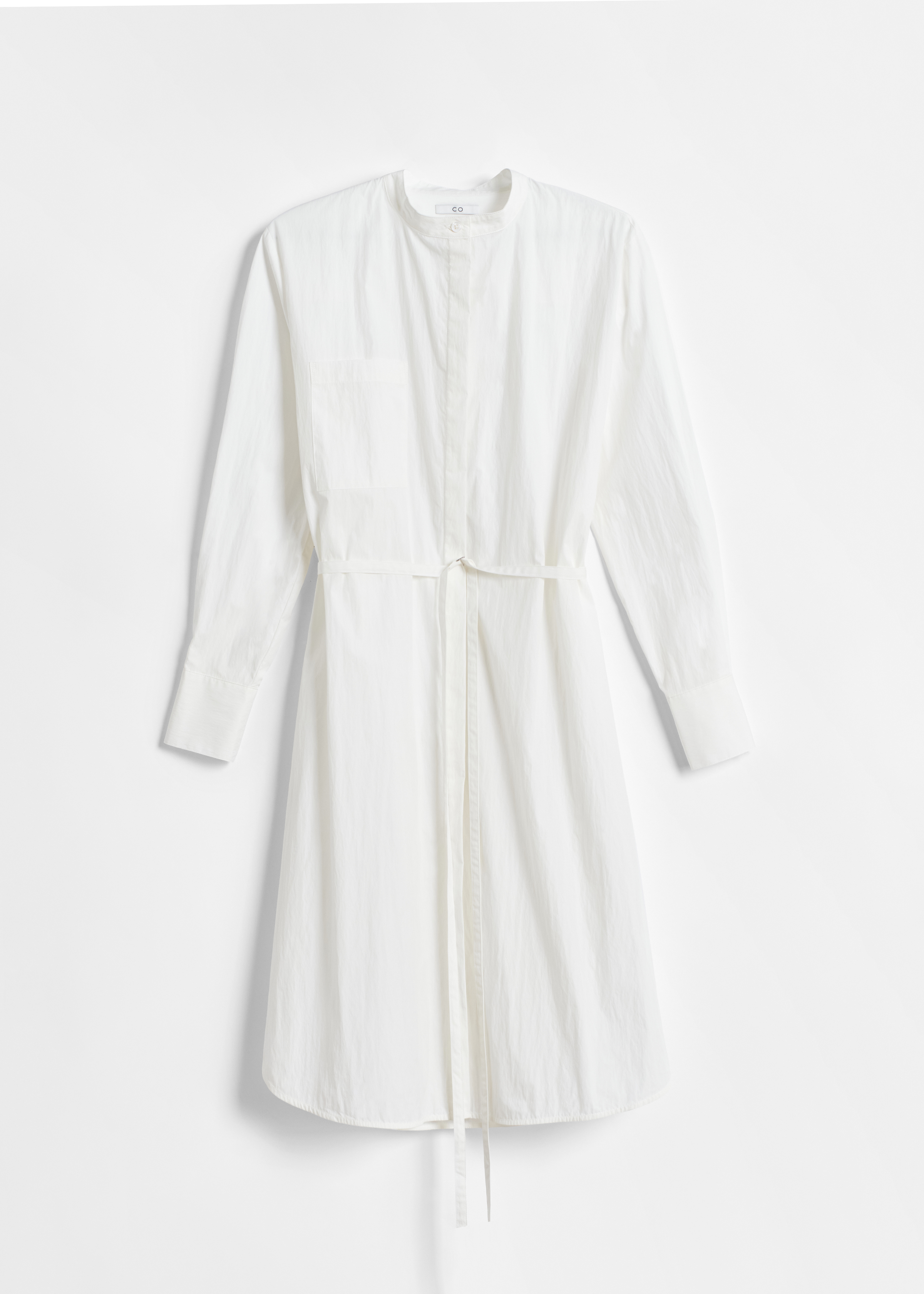 CO - Belted Long Sleeve Tunic in Cotton - White