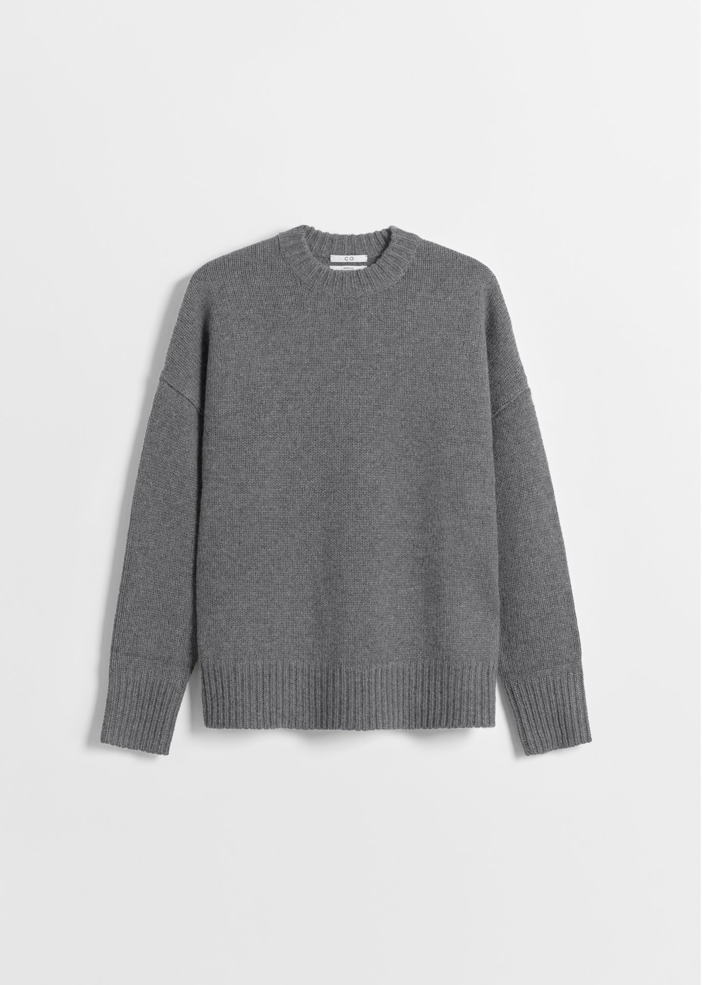 CO - Boyfriend Crew Neck in Wool Cashmere - Grey