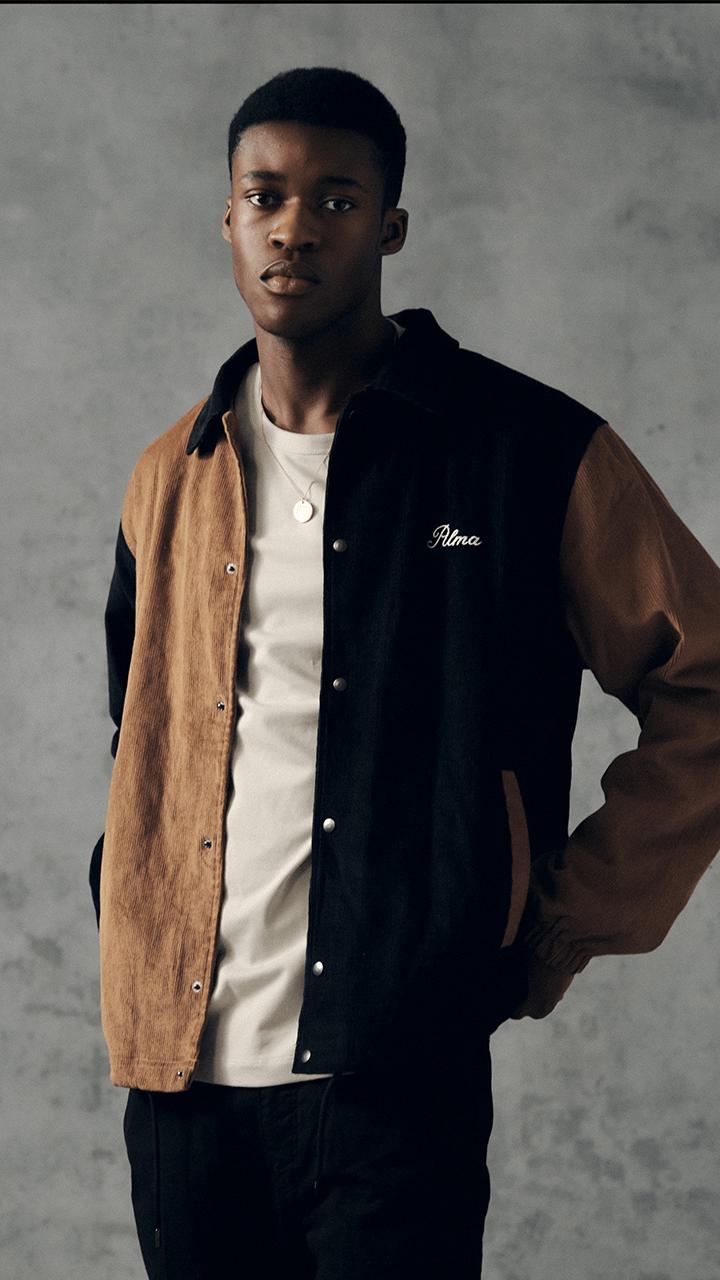 Tan / Navy Almeda Cord Jacket