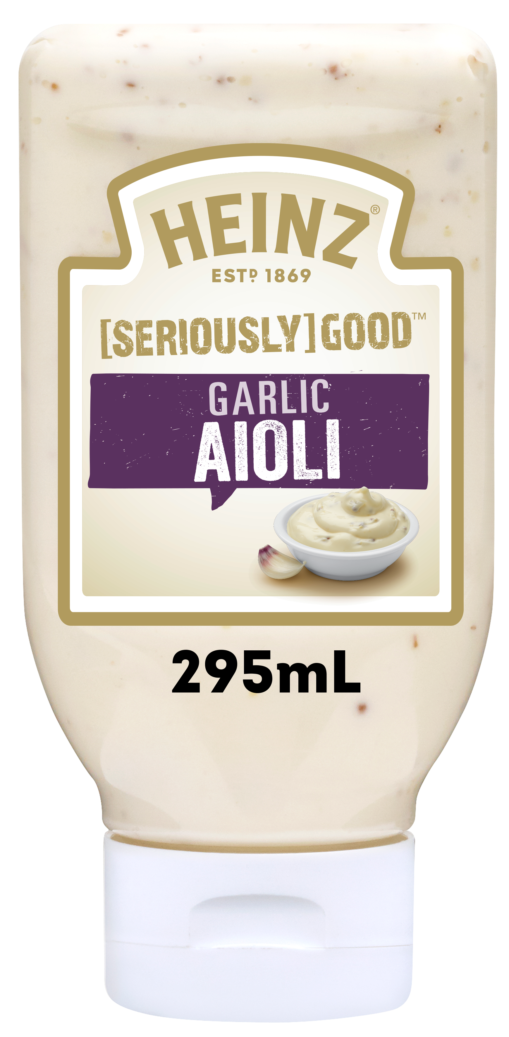 Photograph of Heinz® Seriously Good Garlic Lovers Aioli product