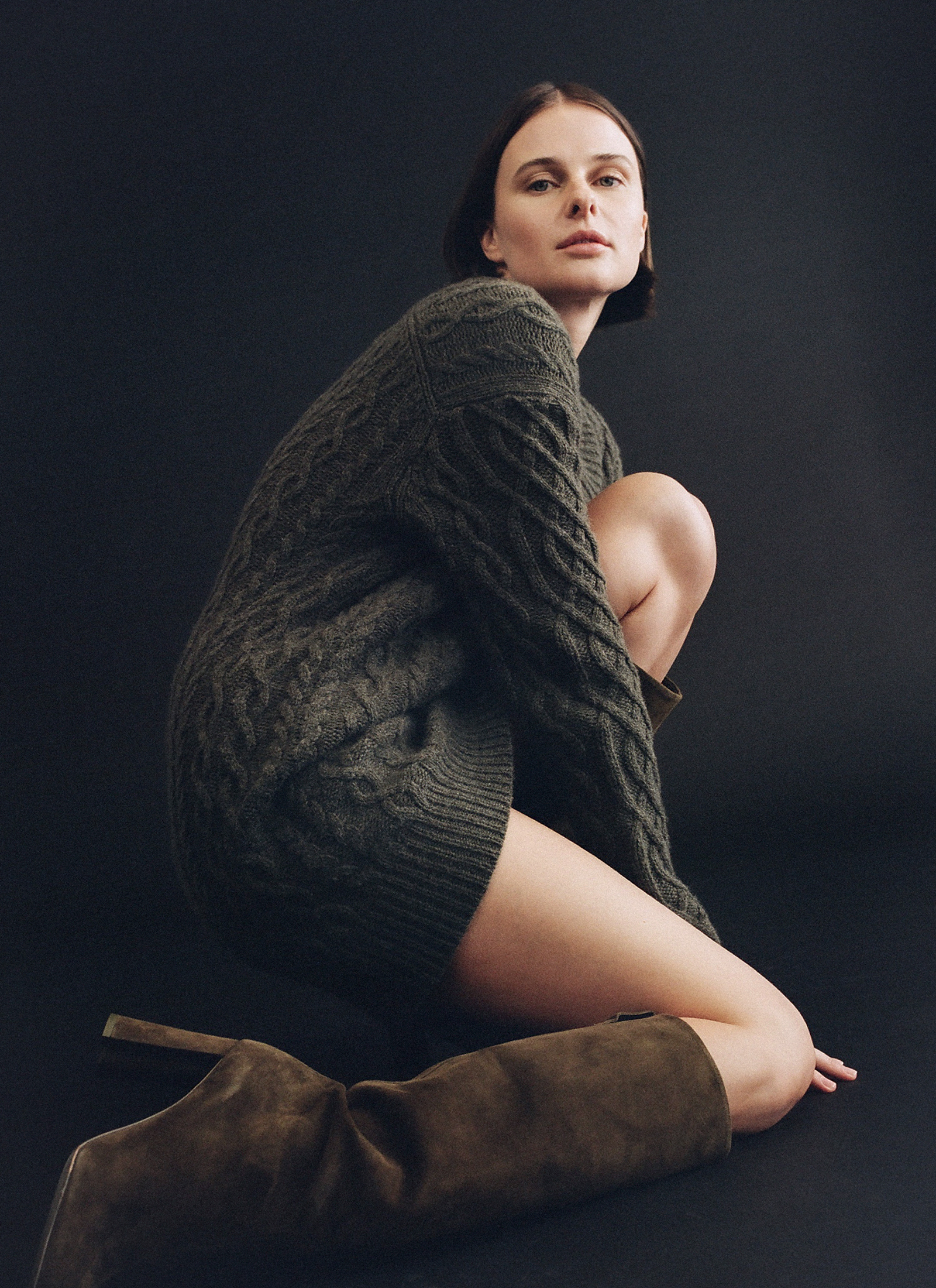 Tall Boot in Suede - Taupe - by Zoe Gherter for Co
