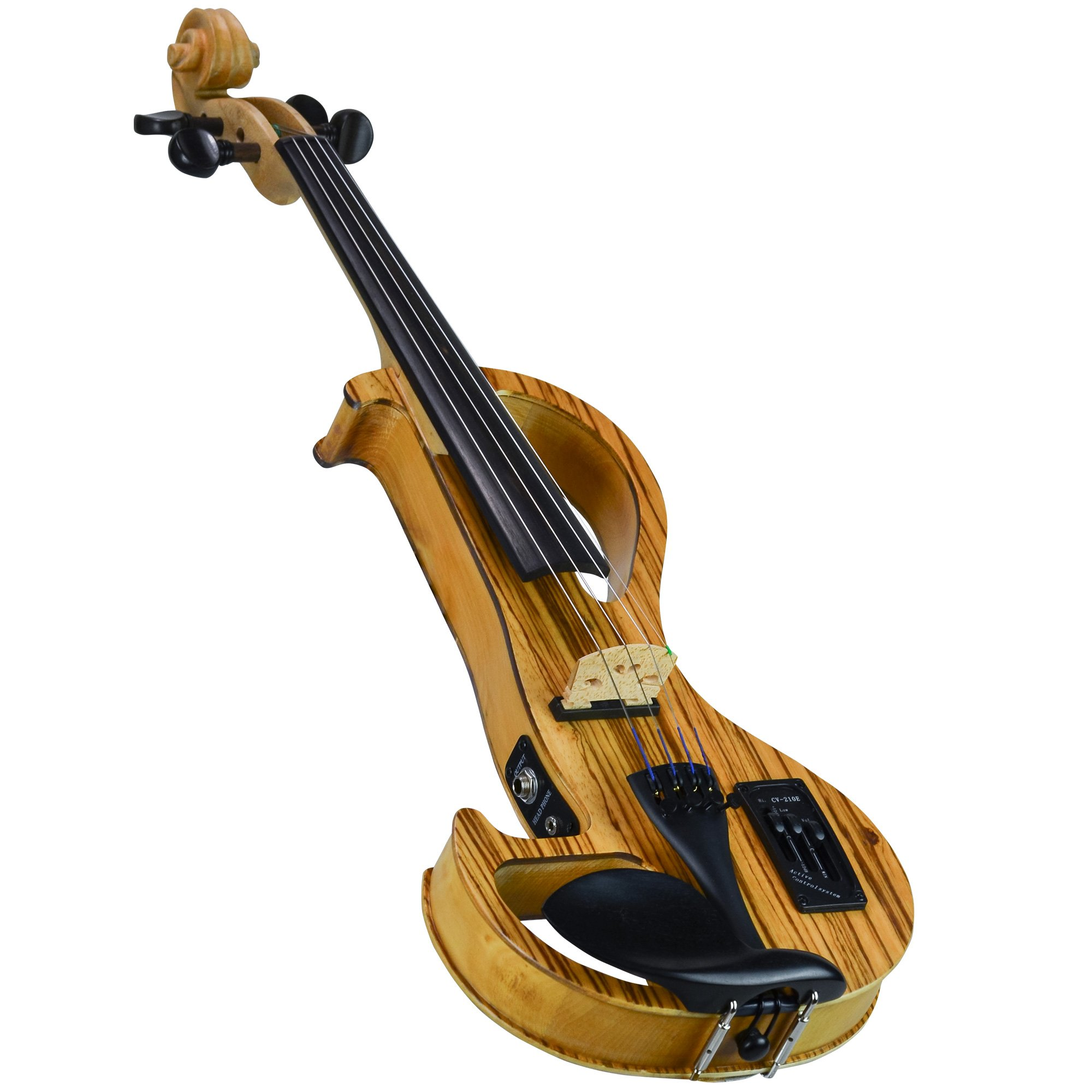CLEARANCE Bunnel Edge Zebrano Electric Violin Outfit in action