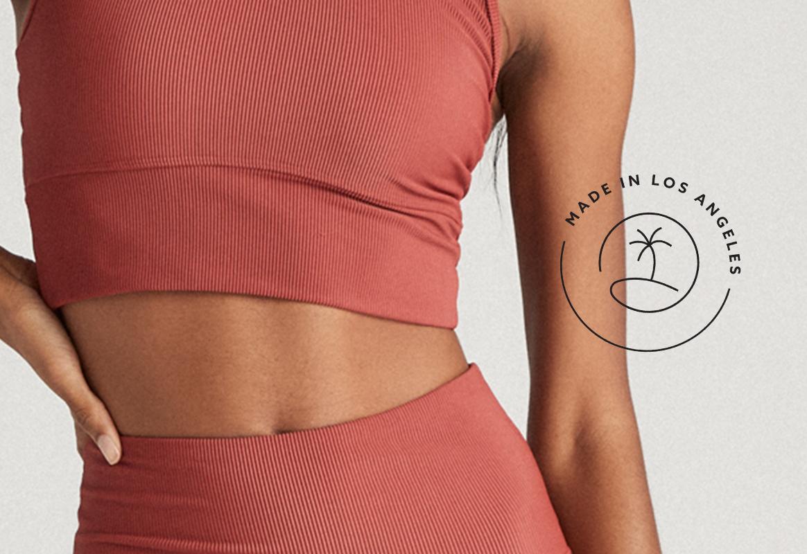 Strut This Strut Rib Fabric — Made in Los Angeles, California Activewear & Athleisurewear