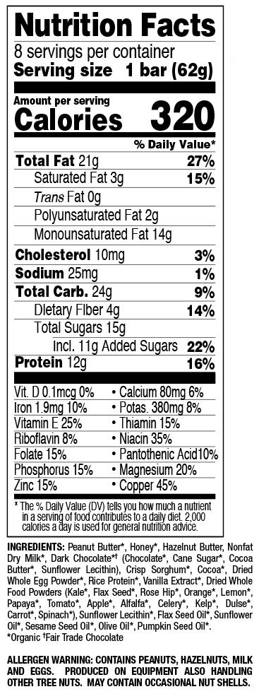 Chocolate Hazelnut Crisp nutritional information