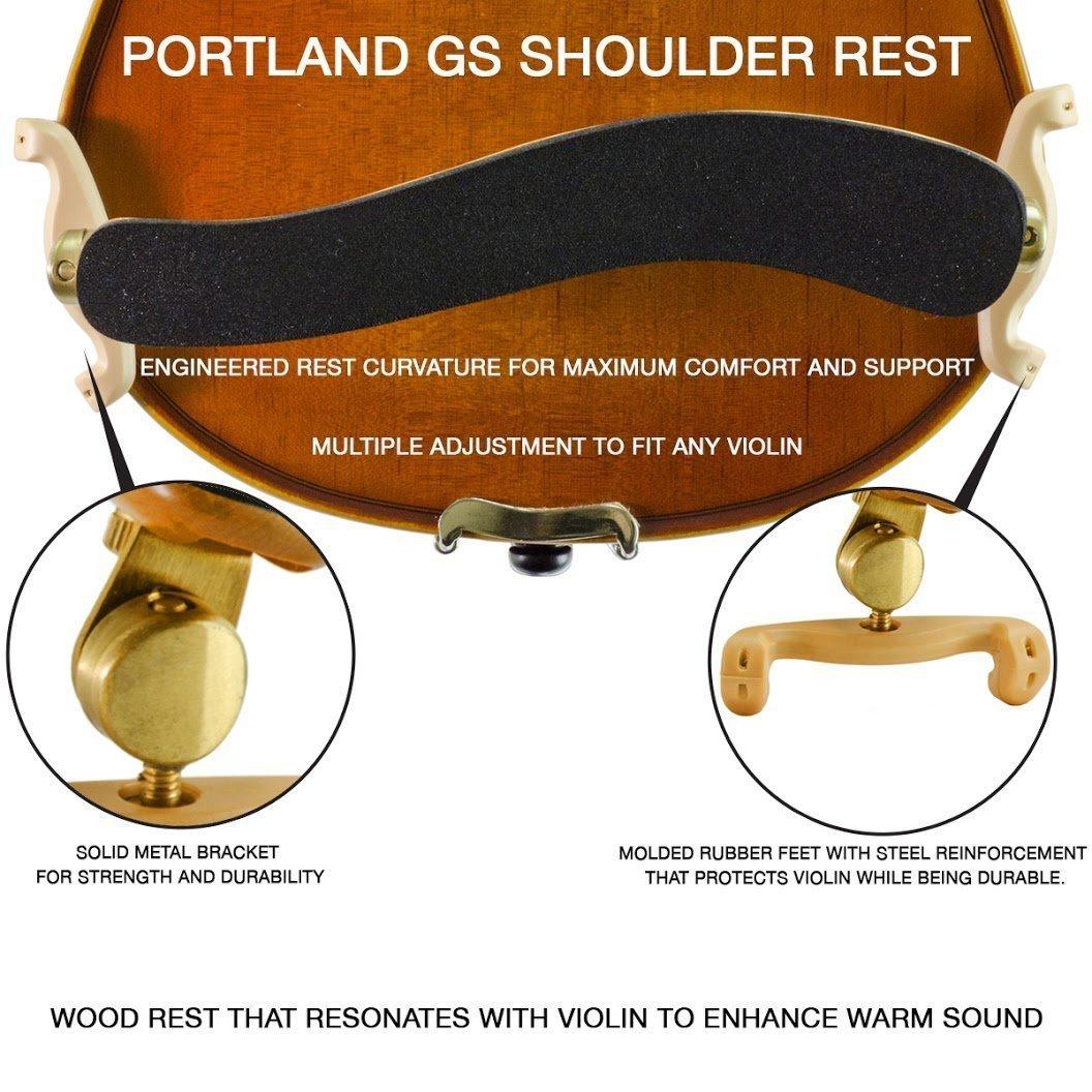 Portland Gold Violin Shoulder Rest in action