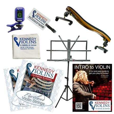 Kennedy Platinum Violin Accessory Package in action