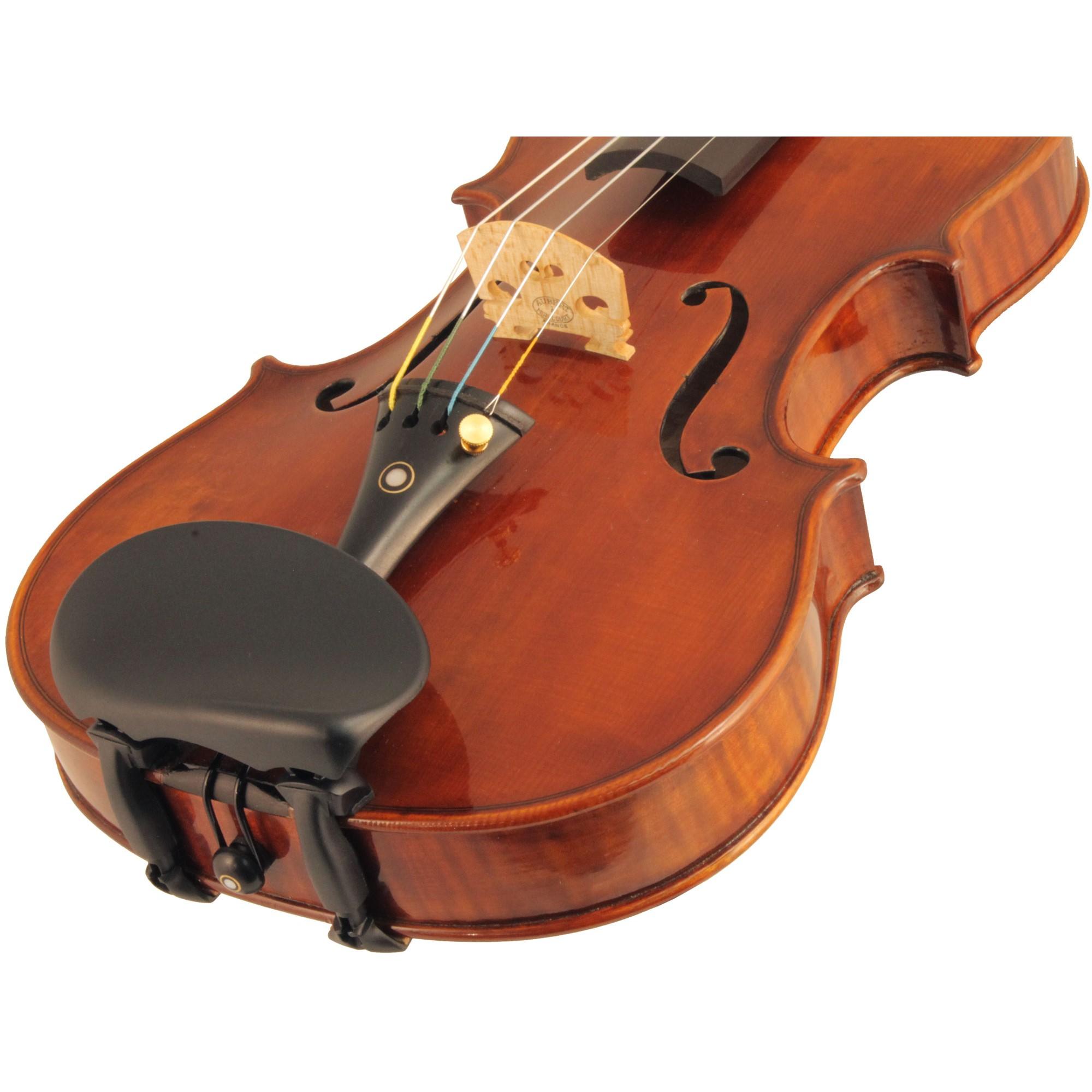 Wittner Kinnhalter Violin Chinrest in action