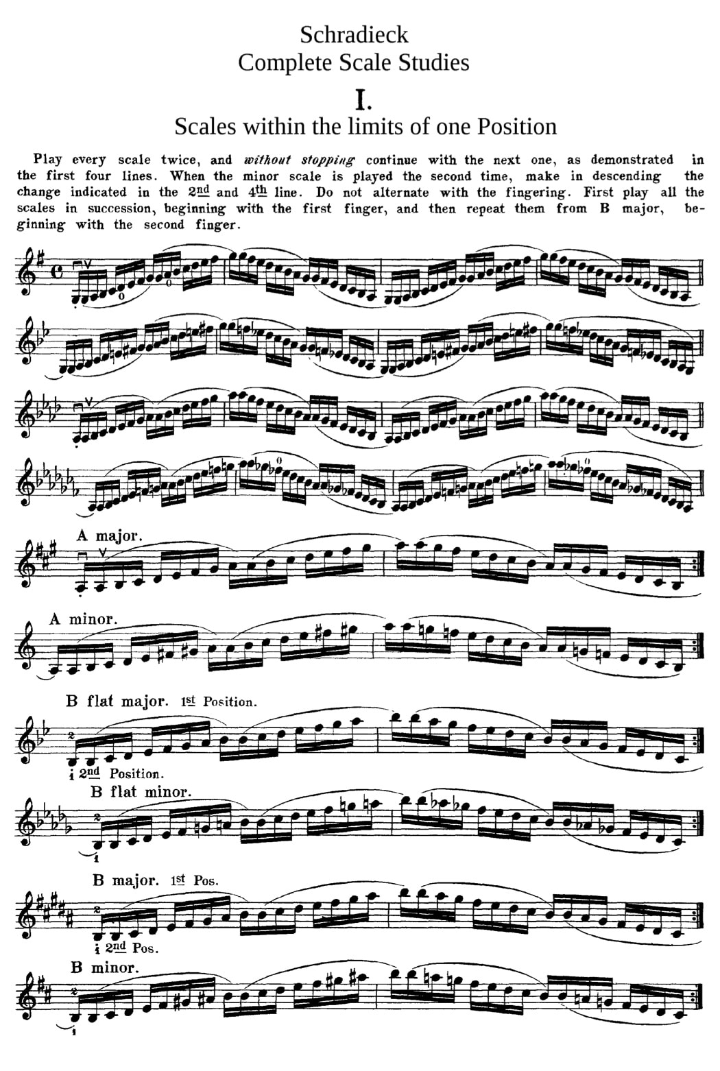 Schradieck Complete Scale-Studies For the Violin in action