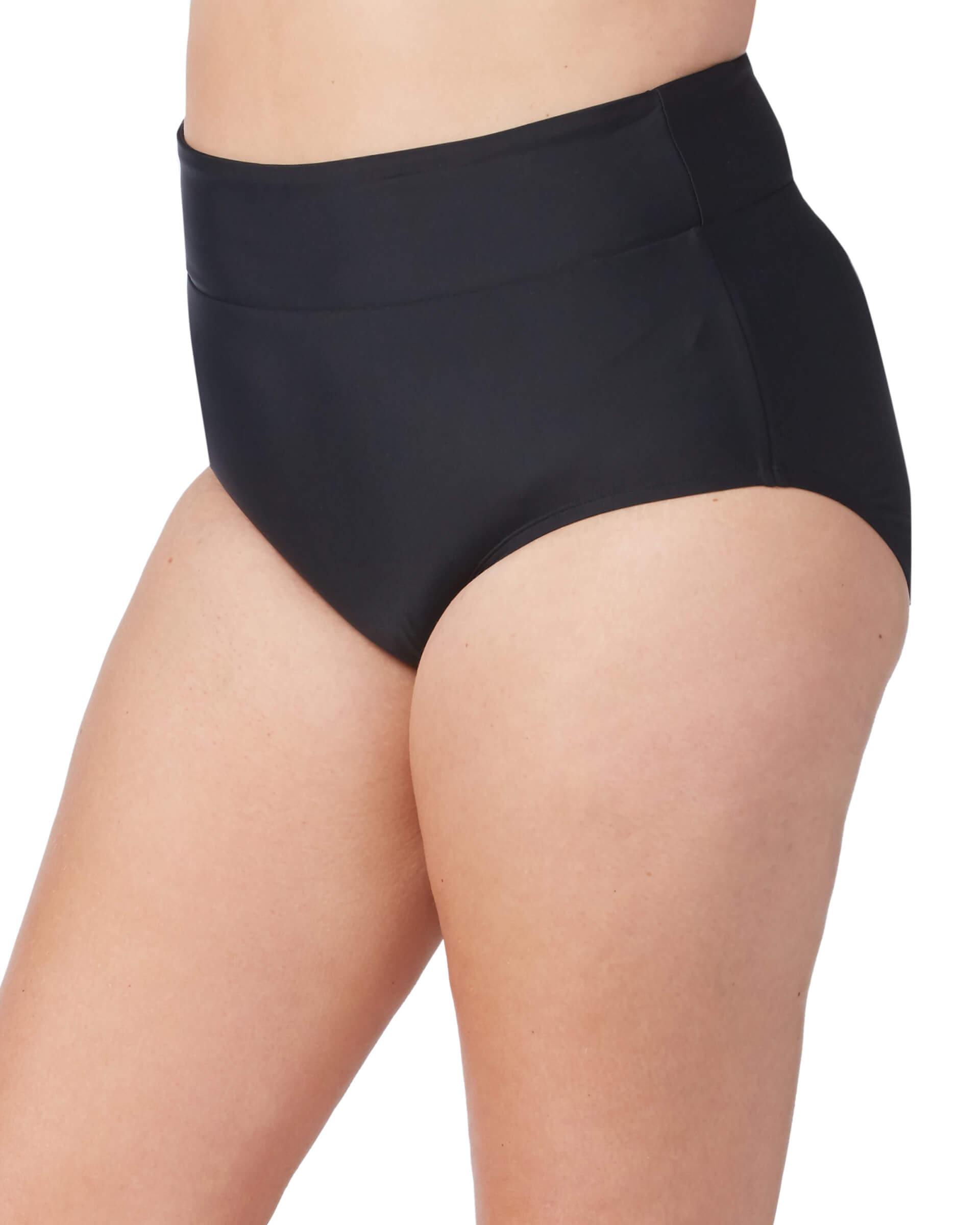 Women's Plus Size High Waisted Bikini Brief