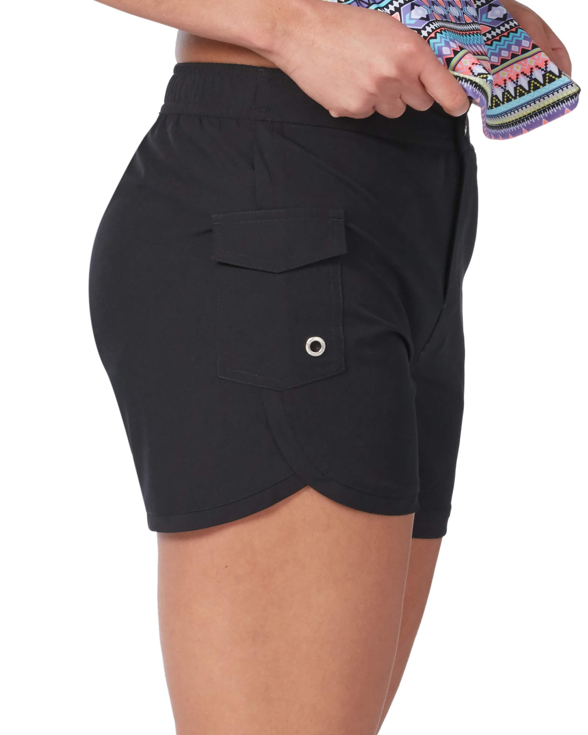 Women's Plus Size Woven Stretch Cargo Short