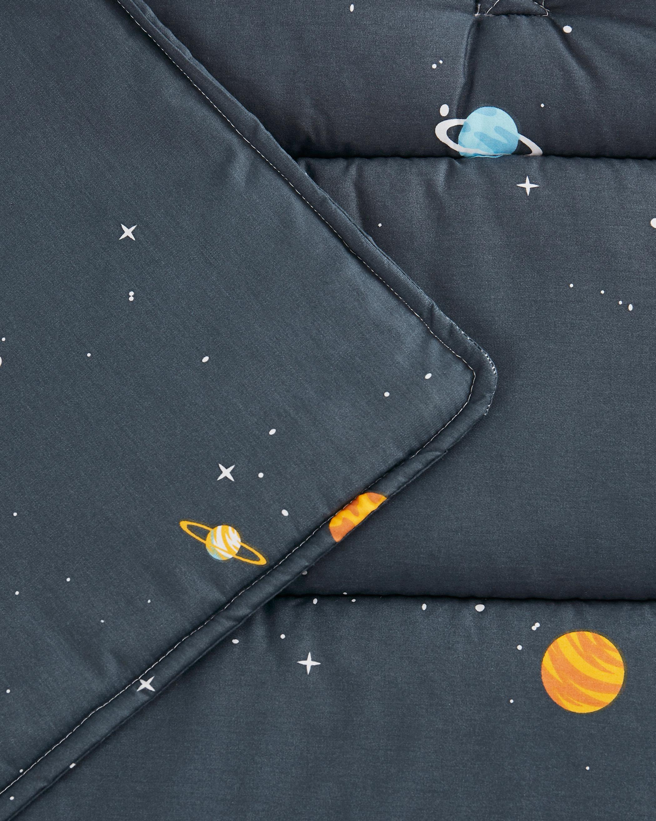 Gray Space Cotton Kids Nap Mat