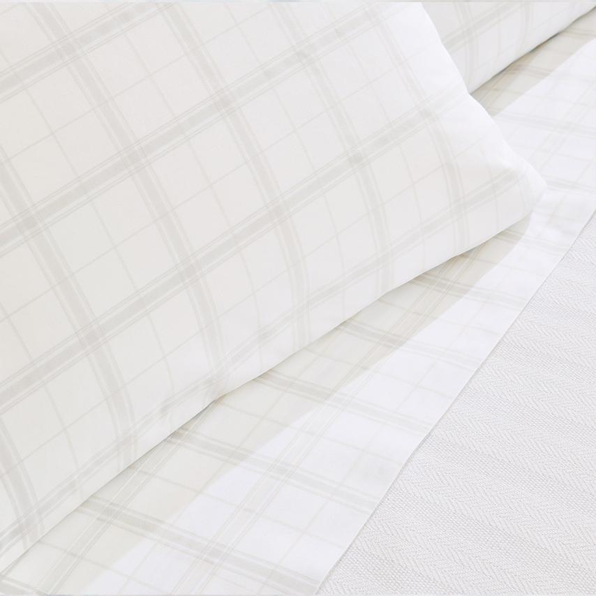 Percale Classic Plaid Pillowcase Set