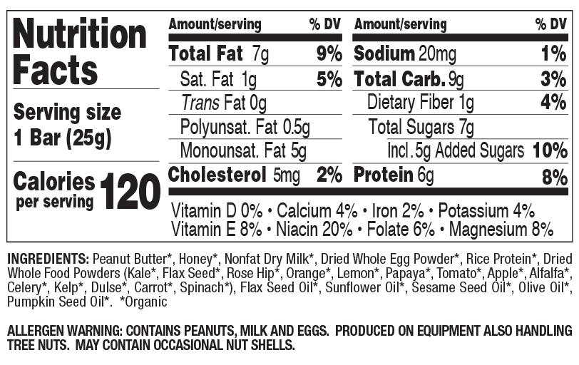 Peanut Butter Snack Size nutritional information