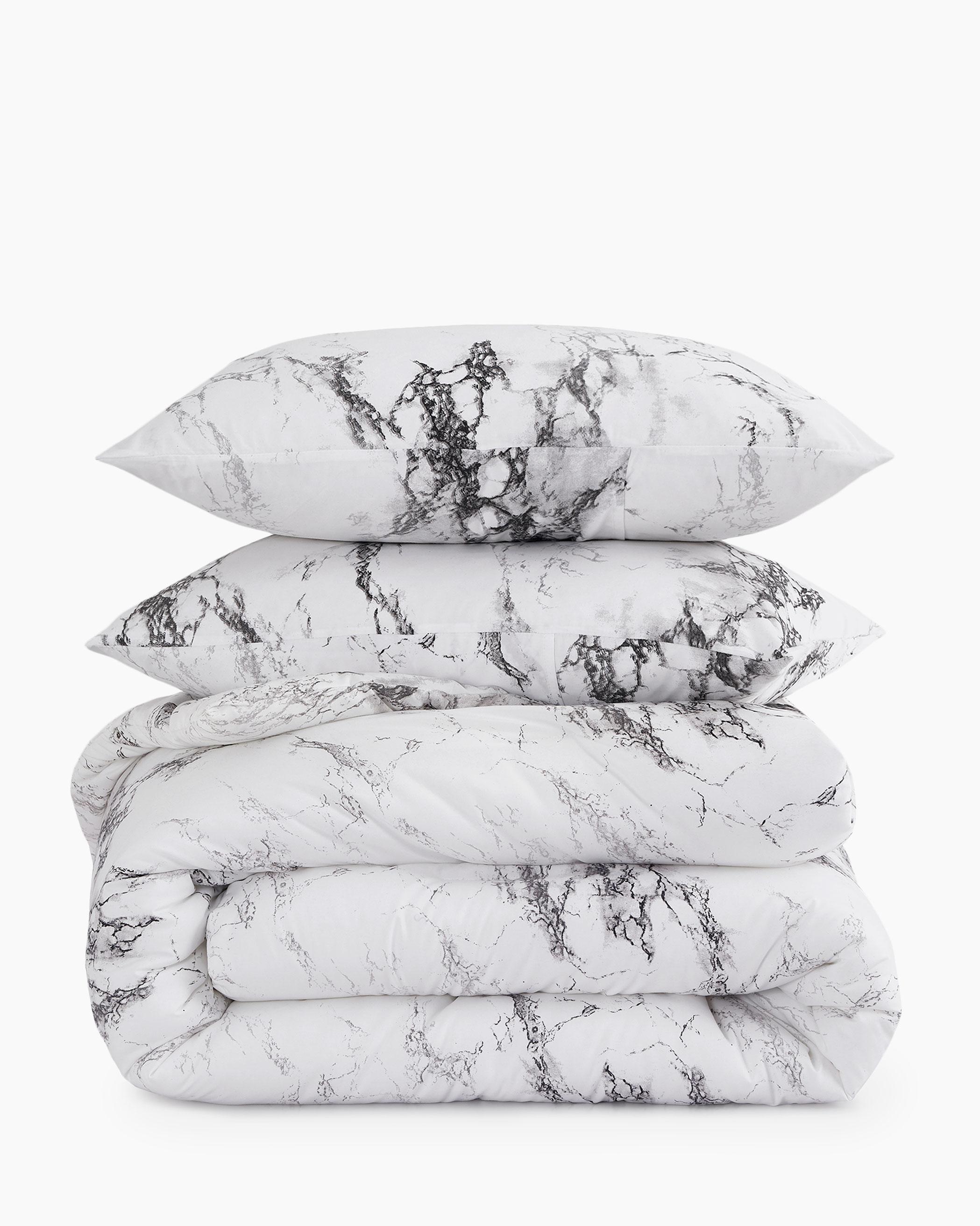 Marble Microfiber Comforter Set