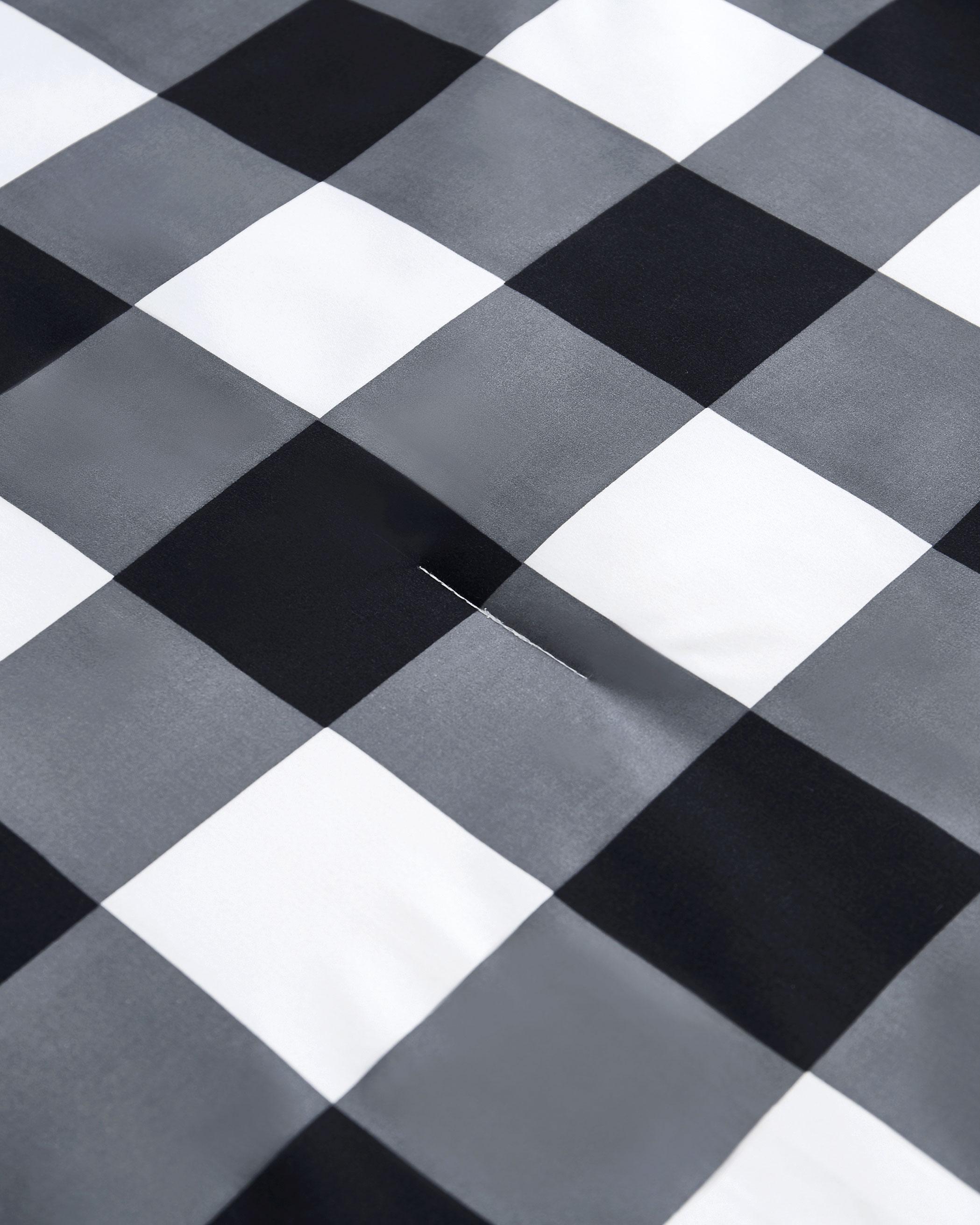 Charcoal Buffalo Check Microfiber Comforter Set