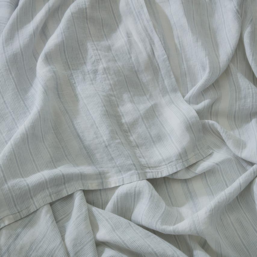 Linen Stripe Sheet Set