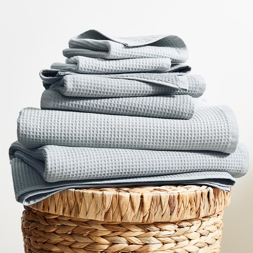 Waffle Terry Bath Towel Set
