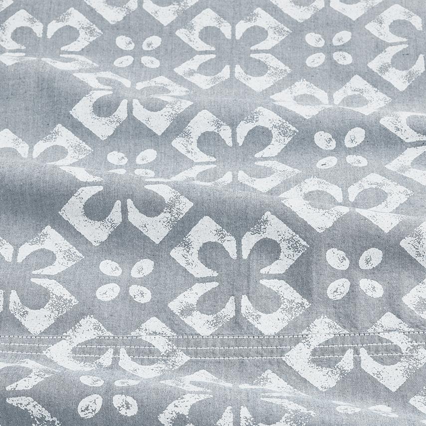 Chambray Cotton Tile Sheet Set