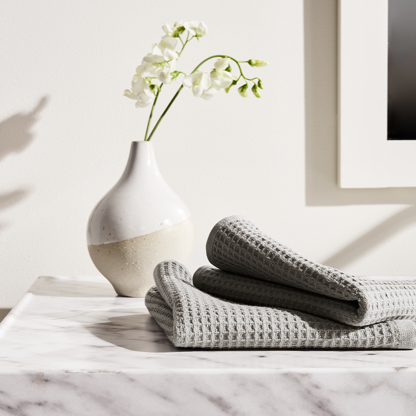 Waffle Terry Hand Towels (Pair)