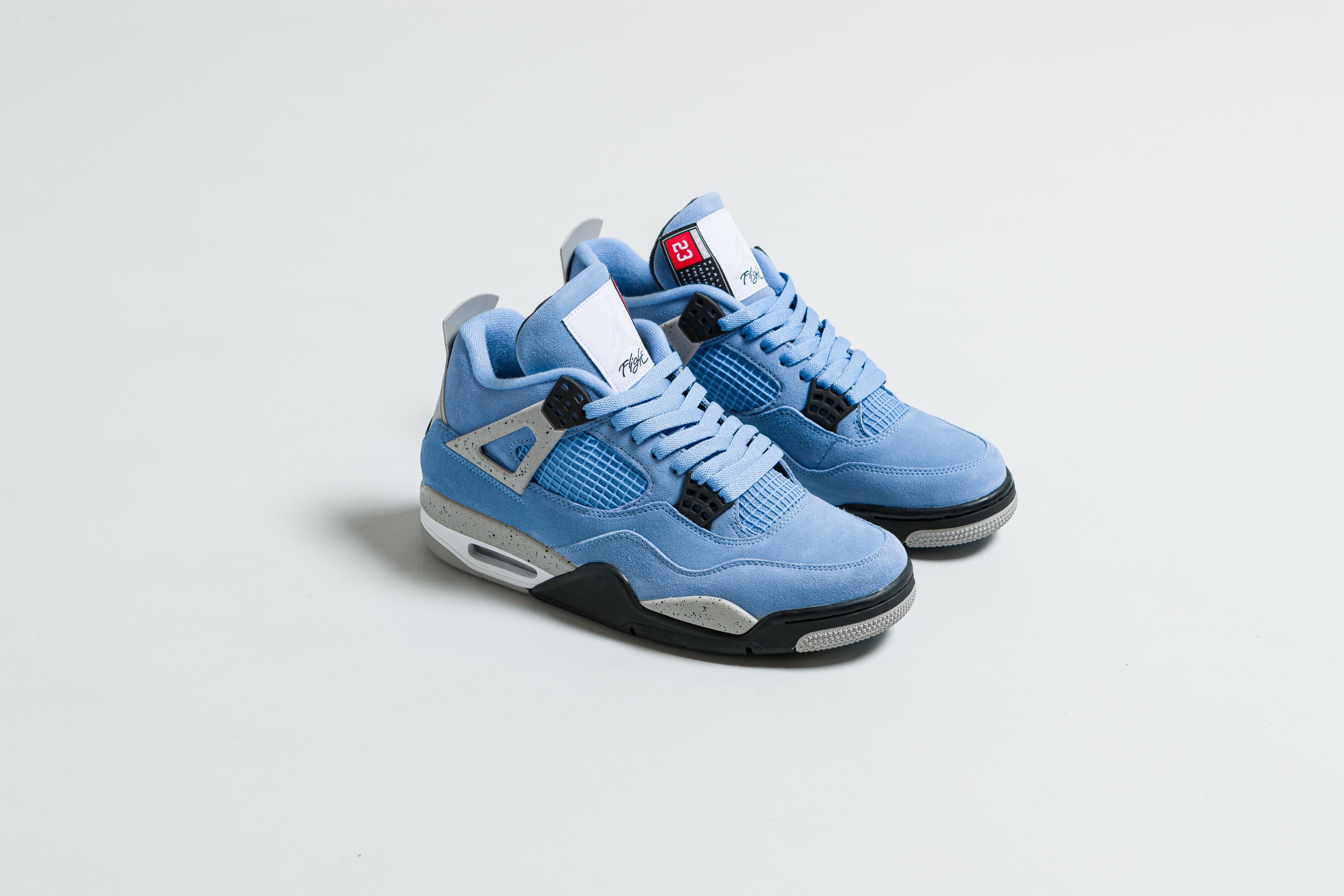 Jordan - Air Jordan 4 Retro - University Blue/Black-Tech Grey-White - Up There