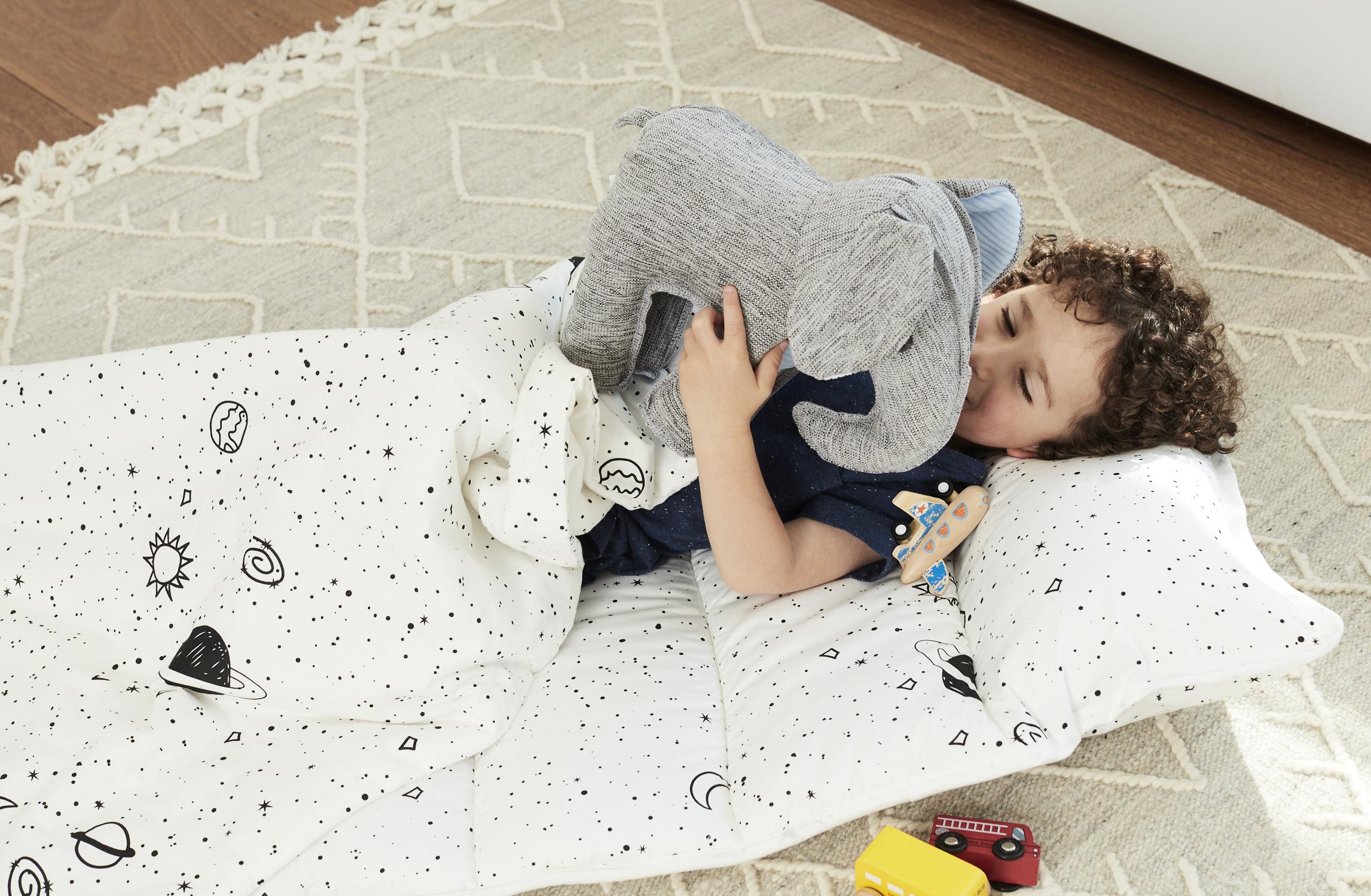 White Space Cotton Kids Nap Mat