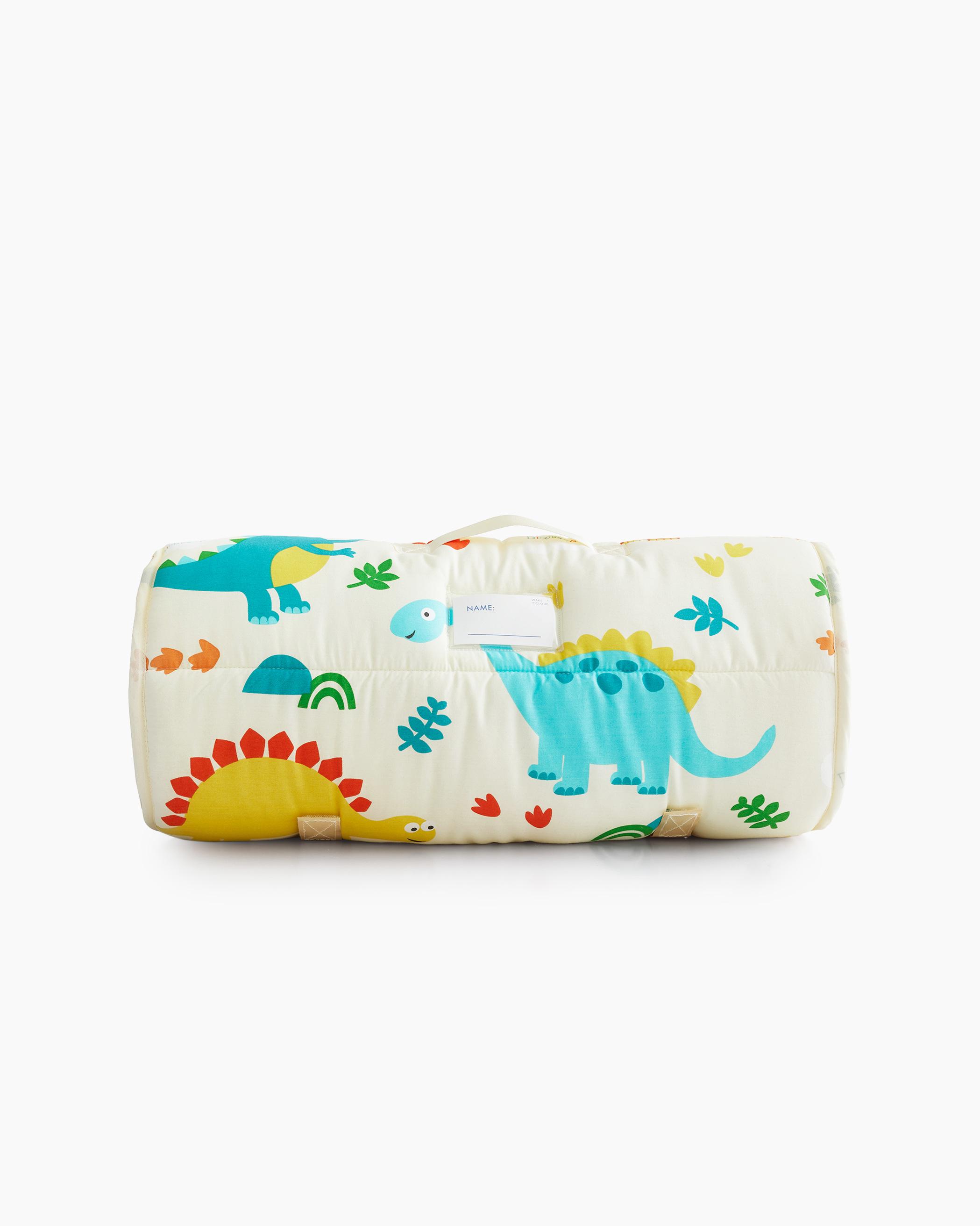 Ivory Cream Dinosaurs Cotton Kids Nap Mat